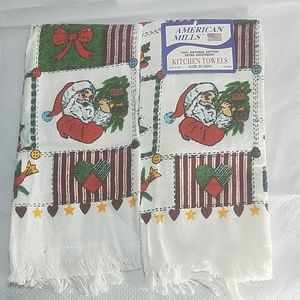 American Mills Holiday Christmas Kitchen Towels